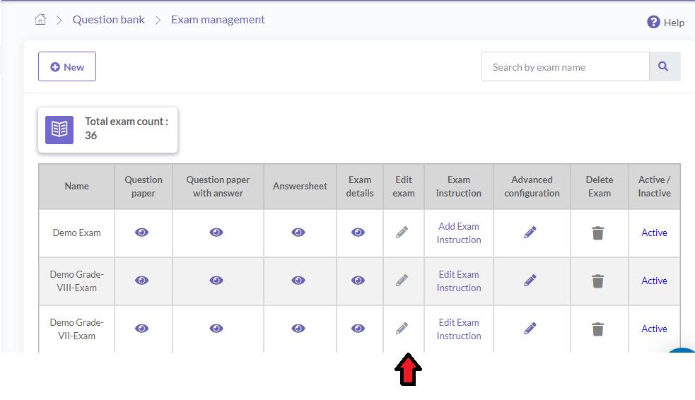 Edit Online Exam