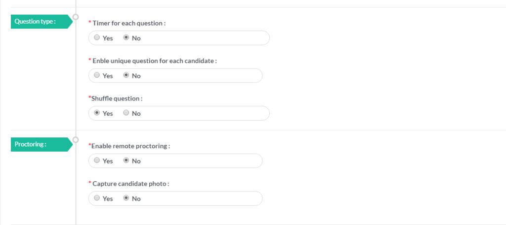 Exam Proctoring configuration