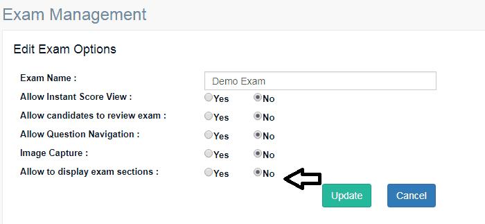 Exam online Exam Section