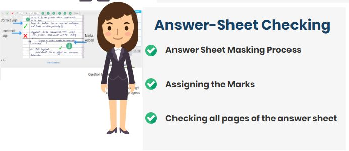 Answer sheet checking Process for the evaluator or moderator