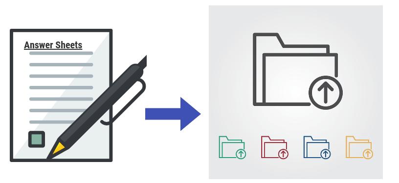 digital storage of answer scripts