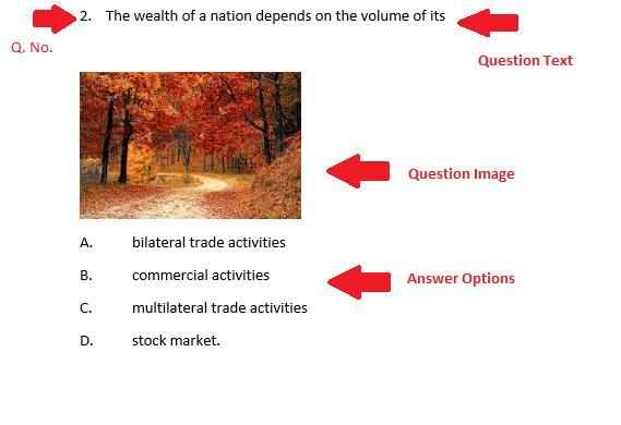 Bulk Question Entry Format