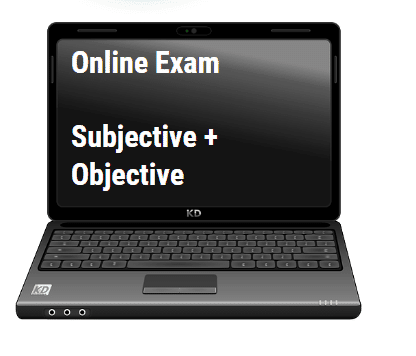 Subjective and Objective online Exam