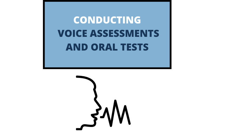 How can voice assessments and oral tests be conducted in online mode